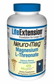 NEURO-MAG - Life Extension Magnesium L-Threonate 90 Vegetarian Caps