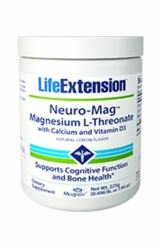 NEURO-MAG - Life Extension Magnesium L-Threonate with Vitamin D and Calcium Powder (225 g)