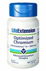 OPTIMIZED CHROMIUM WITH CROMINEX 3+ - Life Extension - 60 Vegetarian Caps (500 mcg)