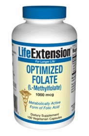 OPTIMIZED FOLATE (L-Methylfolate) (1000mcg) - Life Extension