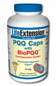 PQQ CAPS with BioPQQ (10mg) - Life Extension - 30 Vegetarian Caps