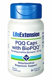 PQQ CAPS WITH BIOPQQ - Life Extension (20mg) - 30 Vegetarian Caps