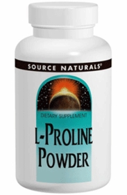 PROLINE POWDER - Source Naturals - L-Proline for Healthy Joints - 4oz Powder
