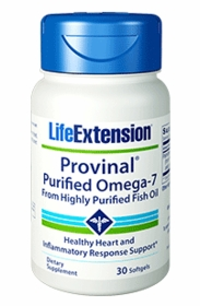 PROVINAL Purified Omega-7 - Life Extension - 30 Softgels