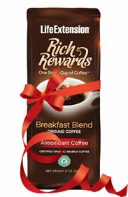 RICH REWARDS BREAKFAST BLEND - Life Extension HealthyRoast Coffee