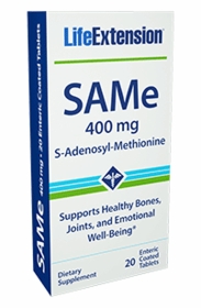 SAMe - Blister Pack - Life Extension - 20 Enteric-Coated Tabs (400mg) - Tri-Pak