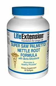 SAW PALMETTO - Super Saw Palmetto/Nettle Root Formula with Beta-Sitosterol - 60 Softgels