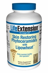 SKIN RESTORING PHYTOCERAMIDES WITH LIPOWHEAT - Life Extension - 30 Liquid Caps
