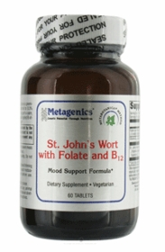 ST. JOHN'S WORT WITH FOLATE AND B12 - METAGENICS (60 Tablets) - TwinPak