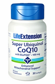 SUPER UBIQUINOL CoQ10 with BioPQQ - Life Extension - 30 Softgels (100mg)