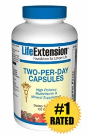 TWO-PER-DAY - Life Extension - 120 Caps - Updated Formula