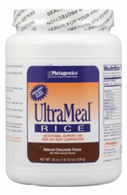 ULTRAMEAL RICE - METAGENICS - Natural Chocolate and Vanilla  (26oz)