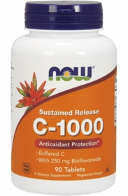 VITAMIN C - NOW C-1000 TABS -  Sustained Release with Rose Hips - 250 Tabs