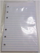 3 3/4 x 6 3/4 RULED FILLER PAPER FOR 6 RING LITTLE MEMO BINDERS - 80 SHEET PACKS