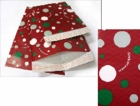 #5 MAILERS - 10 1/2 X 15 RED CHRISTMAS HOLIDAY BUBBLE MAILERS