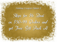 Holiday Coupon Option 2: $6 Shipping on Orders of $50-99 PLUS Gundam Gift Pack A