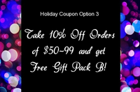 Holiday Coupon Option 3: 10% Off Orders Over $99 PLUS Gundam Gift Pack B