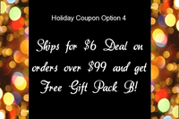 Holiday Coupon Option 4: $6 Shipping on Orders Over $99 PLUS Gundam Gift Pack B