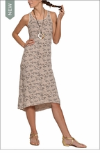 Baby Ribbed Camo Maxi Dress (Sahara Camo) by Hardtail