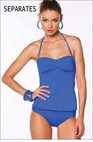 Becca Color Code Blue Tankini Separates
