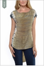 Bemberg Crop Front Tunic (BEM-36, Tie-Dye ESS4) by Hardtail