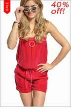 Bemberg Romper (Popular Pink) by Hardtail Forever