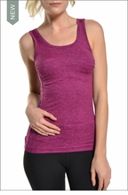 Brushed Heather All Wear Tank (Brushed Berry) by Hardtail