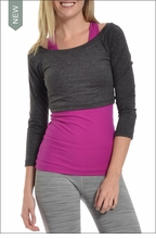 Brushed Heather Ballet Sleeve (Charcoal Gray) by Hardtail