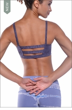 Brushed Heather Cage Bra (Brushed Concord) by Hardtail