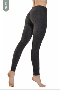 Brushed Heather Flat Waist Cuff Pant (Charcoal) by Hard Tail Forever