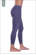 Brushed Heather Rouched Capri (Brushed Navy) by Hardtail