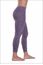 Brushed Heather Rouched Capri (Brushed Concord) by Hardtail