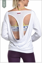 Butter Terry Slouchy Sweatshirt (White) by Hardtail