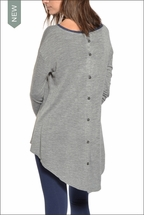 Button Back Tee  by Hardtail