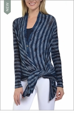 Cardigan Sweater (Midnight Blue) by Hardtail