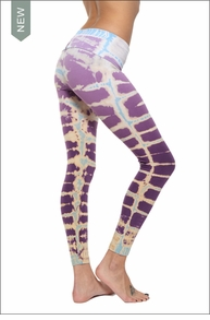 Contour Roll Down Ankle Legging (Violet Lizard Tie-Dye) by Hardtail