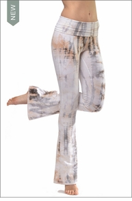 Contour Roll Down Boho Bell Bottom Pants (W-598, CRA2 Tie-Dye) by Hard Tail Forever
