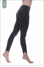 Cotton Lycra Contour Flat Waist Split Skinny (W-636, Black) by Hard Tail Forever