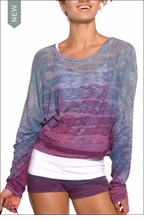 Cropped Sweatshirt (Thailand Sunset Tie-Dye) by Hardtail