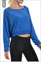 Cropped Terry Sweatshirt (Angel Blue) by Hard Tail Forever