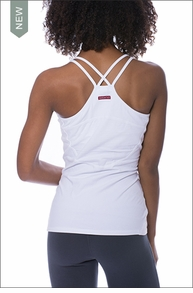 Cross Back Tank (White) by Hardtail