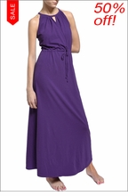 Cross Front Maxi Dress (Iris) by Hard Tail Forever