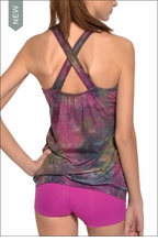 Crossback Tank w/Bra (Paint Ball Tie-Dye) by Hardtail