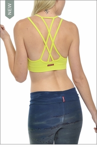Double Cross Bra (Lime) by Hardtail