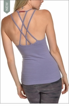 Double Cross Tank with Bra (Amethyst) by Hardtail