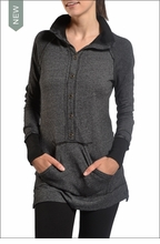 Drop Tail Sweater (Black) by Hardtail