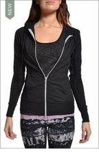 Fitted Hoodie (Black) by Hardtail