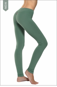 Flat Waist Ankle Legging (Pine) by Hard Tail Forever