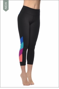 Flat Waist Capri (Black) by Hard Tail Forever