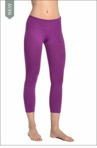 Flat Waist Capri (Orchid) by Hard Tail Forever